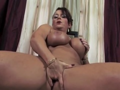 God-Like Buxomy Woman Is A Mature Woman, Bored With Incredible Masturbation