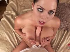 A Charming Noisy Shiny Collar Masturbating Her Succulent Pussy