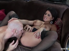 Stylish Buxomy Roman Mother Eva Angelina Is Very Much Sprinkled In The Ass